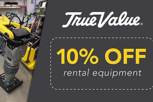 10% Off All Rentals!