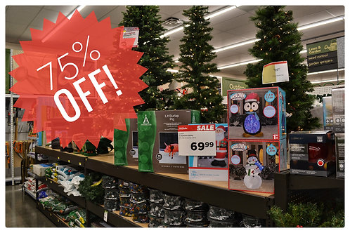 All Holiday Decor 75% Off