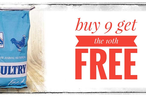 Buy 9 get the 10th free on IFA poultry food!