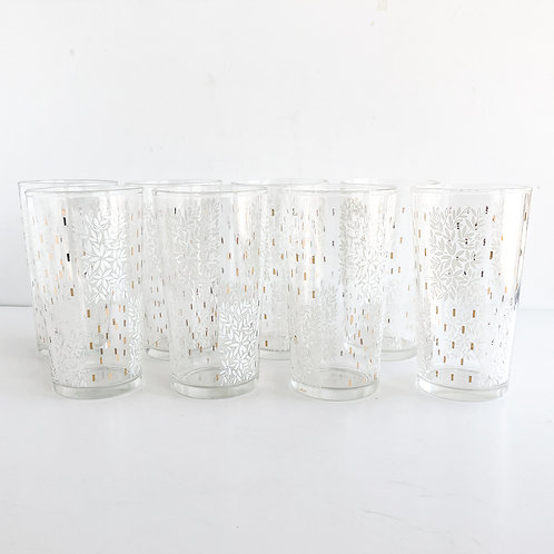 Gold Mid-Century Tumblers #46 - Set of 8