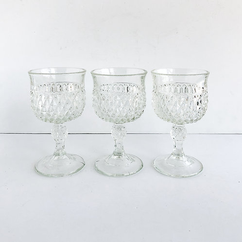 Clear Goblets #13 - Set of 3