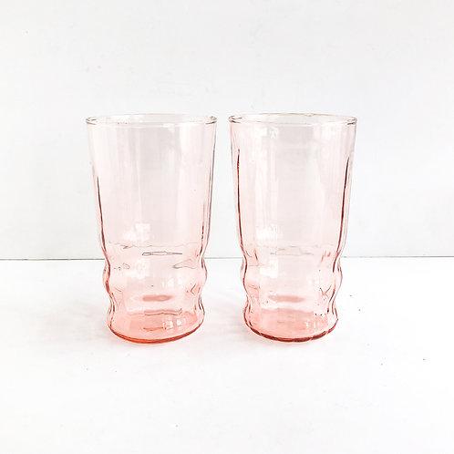 Pink Depression Glasses #10 - Set of 2