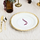 Thumbnail: Mismatched Gold Plates - 10 Dessert, 10 Salad, and 10 Dinner | 30 Pieces