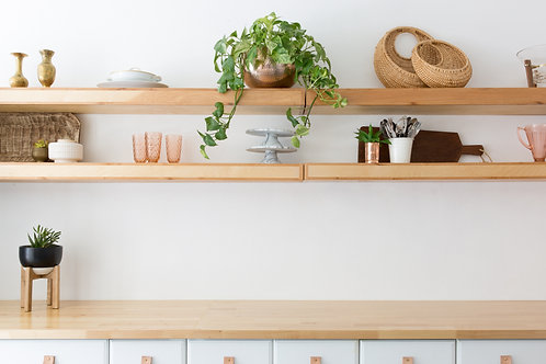 Custom Birch Wood Floating Shelf