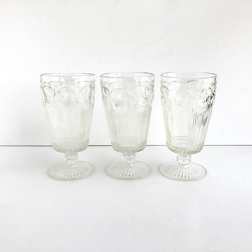 Clear Goblets #6 - Set of 3