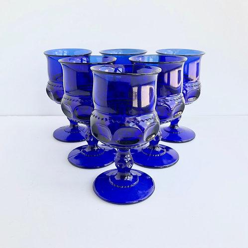 Blue Goblets #13 - Set of 6