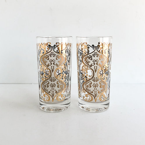 Gold Mid-Century Tumblers #30 - Set of 2