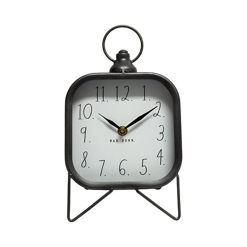 Large Gray Square Alarm Clock