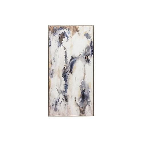 Black & Gray Abstract Art - 20x40