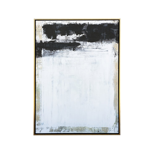 Black & White Block Painting - 36x48