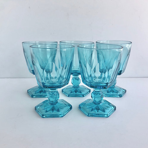 Blue Goblets #6 - Set of 5