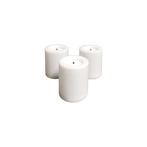 Faux Votive Candles - Set of 12