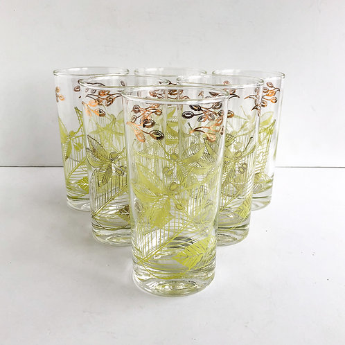 Colored Mid-Century Tumblers #49 - Set of 6