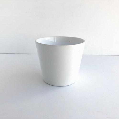 Small White Glazed Pots #2 - Set of 3