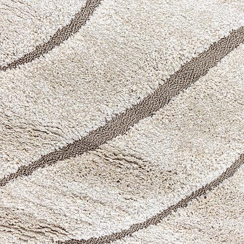 Beige Ivory Waves Rug - 8x10