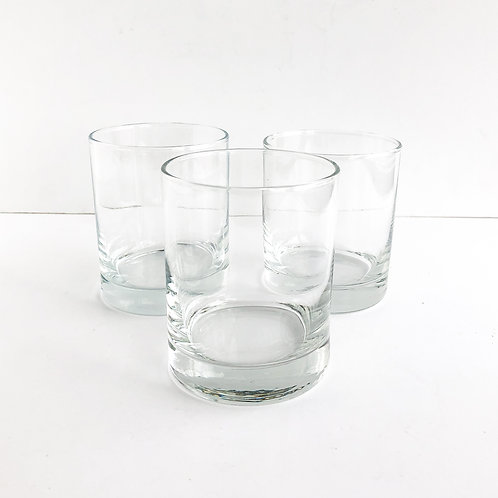 Clear Glass Lowballs - Set of 9