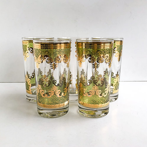 Colored Mid-Century Tumblers #51 - Set of 5