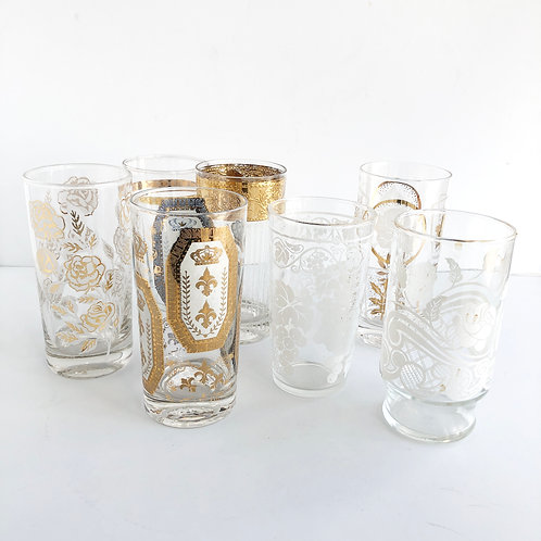 Assorted Gold Tumblers - Set of 7