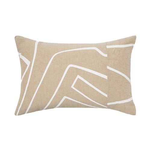 Tan & White Line Pillow