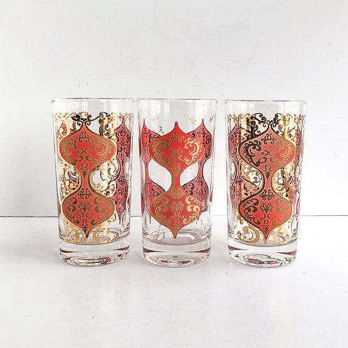 Colored Mid-Century Tumblers #48 - Set of 3