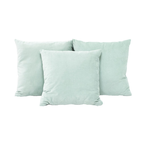 Powder Blue Velvet Pillows - Set of 2