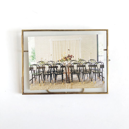 Brass Floating Picture Frame