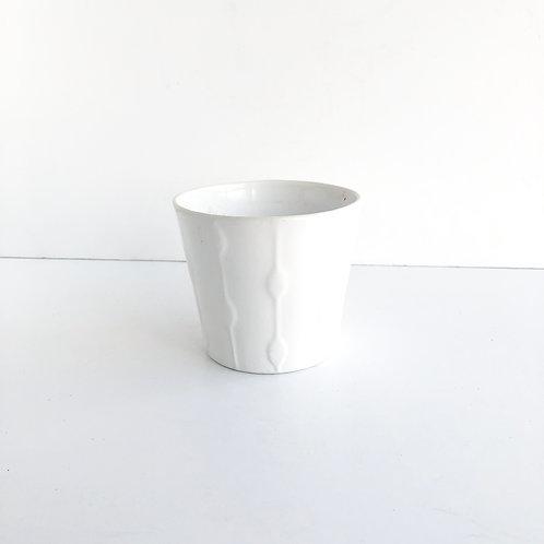 Small White Glazed Pot #1