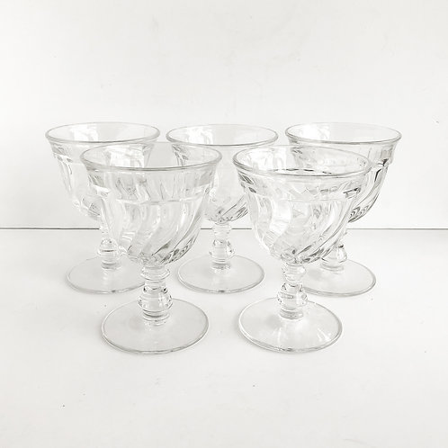 Clear Goblets #3 - Set of 5