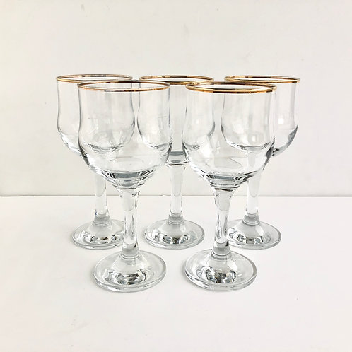 Gold Rimmed Coupes #11 - Set of 5