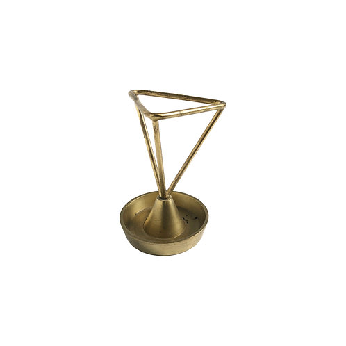 Geometric Brass Pencil Holder