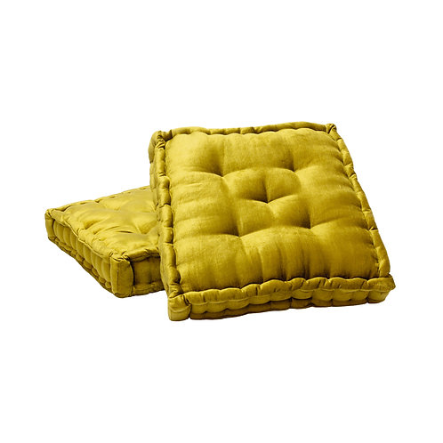 Hailey Floor Cushions - Chartreuse | Set of 2