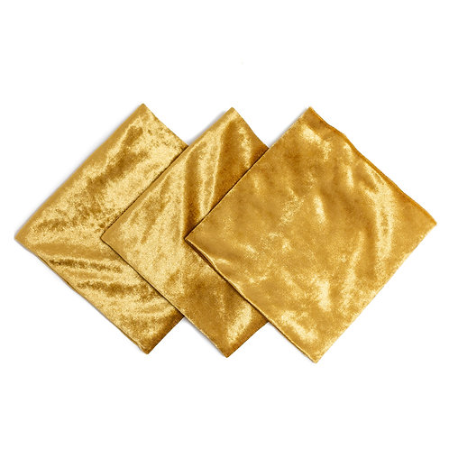 Marigold Velvet Napkins - Set of 10