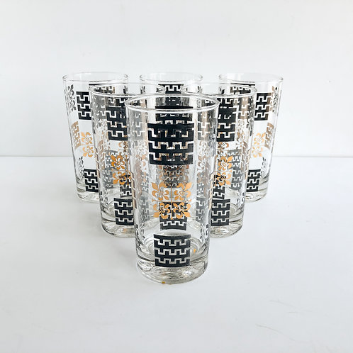 Colored Mid-Century Tumblers #19 - Set of 7