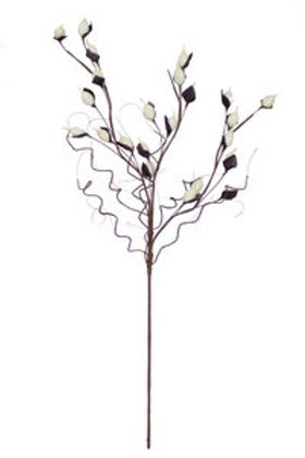 Faux White Bulb Branches - Set of 2