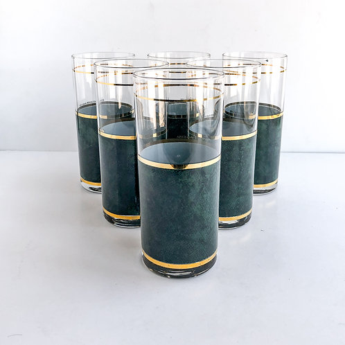 Colored Mid-Century Tumblers #30 - Set of 6