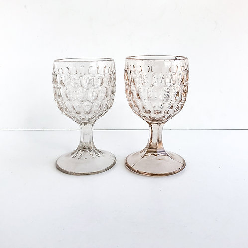 Clear Goblets #14 - Set of 2