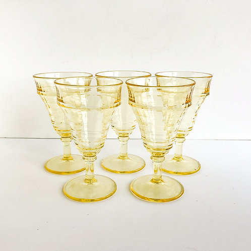Yellow Goblets #3 - Set of 5