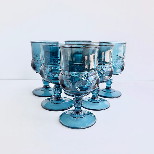Blue Goblets #12 - Set of 6
