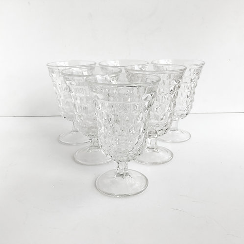 Clear Goblets #1 - Set of 6