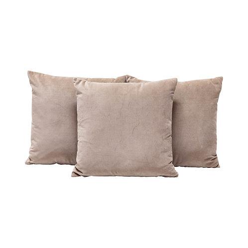 Tan Velvet Pillows - Set of 2