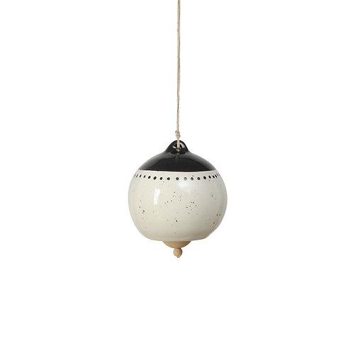 Black + White Hanging Bell | Large