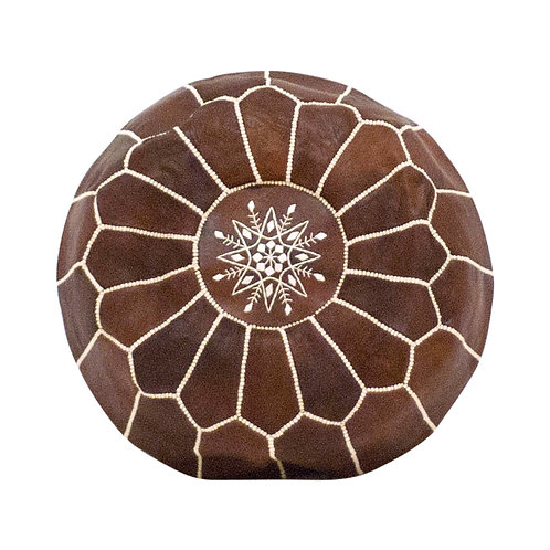 Brown Moroccan Poufs - Set of 2