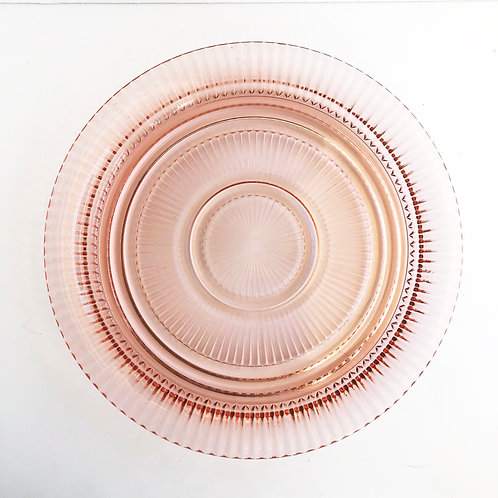 Pink Depression Glass Platter #1