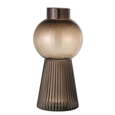 Smokey Glass Vase