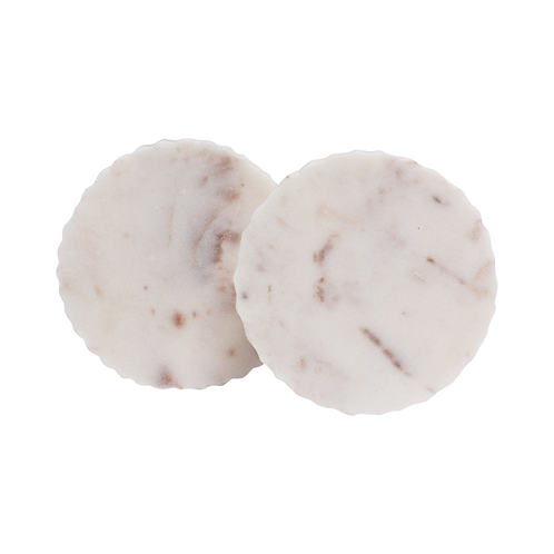 Scalloped Marble Coasters - Set of 2