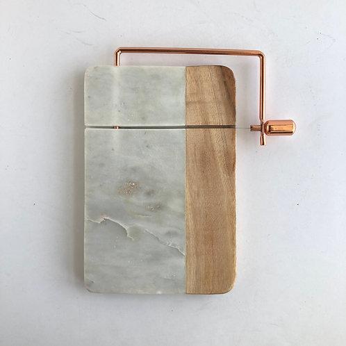 Marble + Wood Cheeseboard