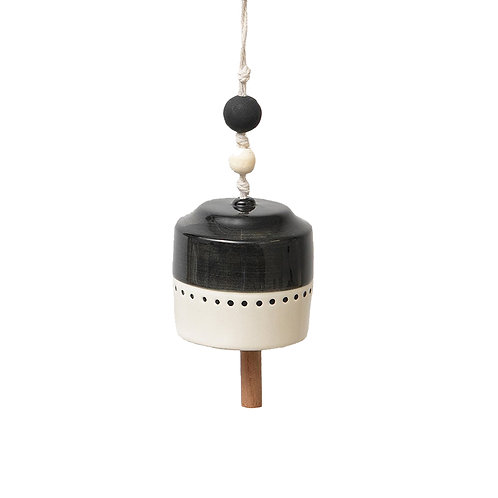 Black + White Hanging Bell | Small
