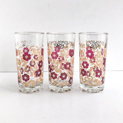 Colored Mid-Century Tumblers #46 - Set of 3