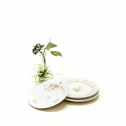 Mix & Match Floral Dessert Plates - Set of 10