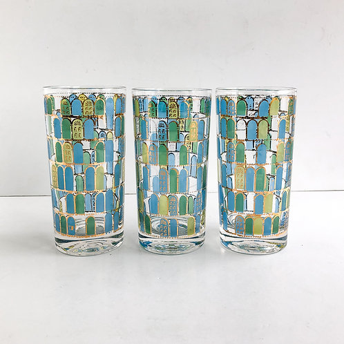 Colored Mid-Century Tumblers #53 - Set of 3